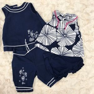 2 baby girl matching outfits